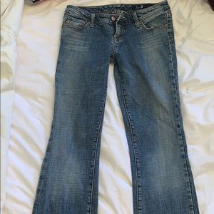 Seven7 Boot Cut Low Rise Jeans